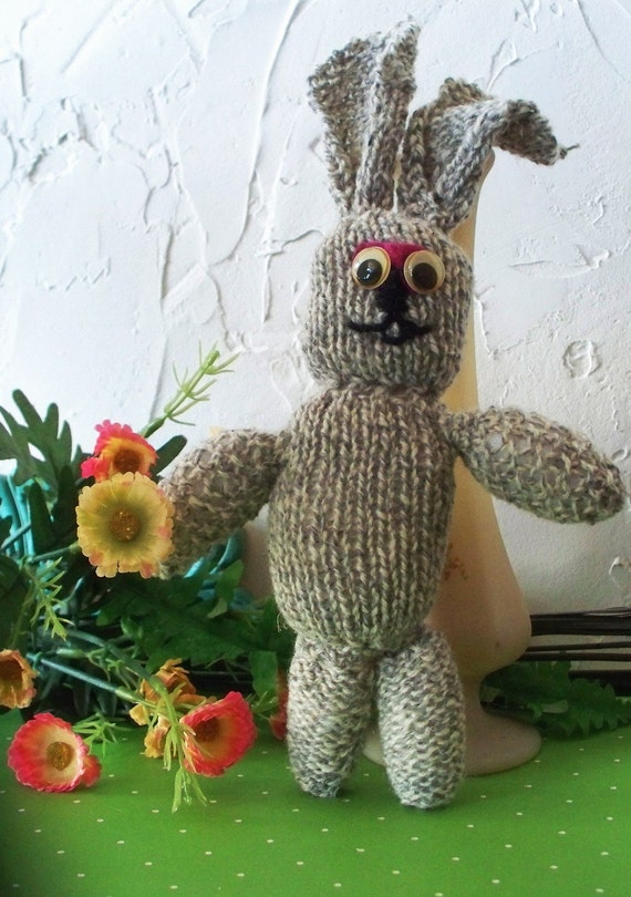Funniest Bunny ever, knitted pal