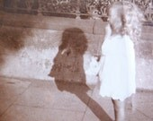 vintage photograph - long tall shadow