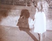 vintage photograph - long tall shadow