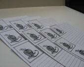 Stylized Apple Recipe Cards Set of 10