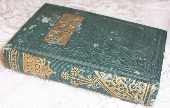 """VICTORIAN Miniature GIFT/Devotional Book...""""Daily Food"""" w/ Gilt Decorations"""
