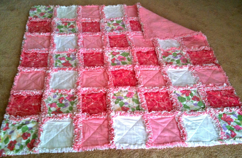 Princess Ii Cotton Flannel And Fleece Rag Quilt