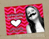 Printable I MUSTACHE you a question Valentine's Day Cards - with background removal