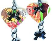 Teen Girl Jewelry Peace Tea Recycled Soda Can Tween Jewelry Gift Recycled Soda Can Bow Tie Earrings Teen Gift - E42