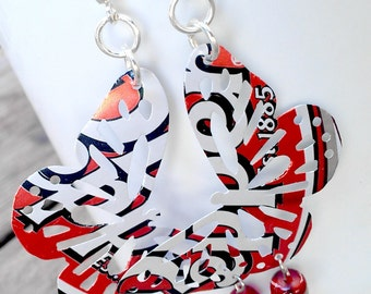 Dr Pepper Upcycled Butterfly Earrings Butterfly Jewelry Soda Can Sale Jewelry Flash Sale Trending Jewelry - E32