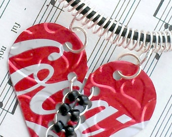 Recycled Soda Can Jewelry Coca Cola Soda Can Aluminum Can Heart Jewlery Sale Jewelry Flash Sale R28- N10