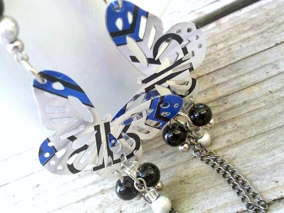 Teen RockStar Soda Can Jewelry Girl Gift Butterfly Earrings Eco Friendly Jewelry Rockstar Energy Upcycled Jewelry Flash SALE Jewelry R38