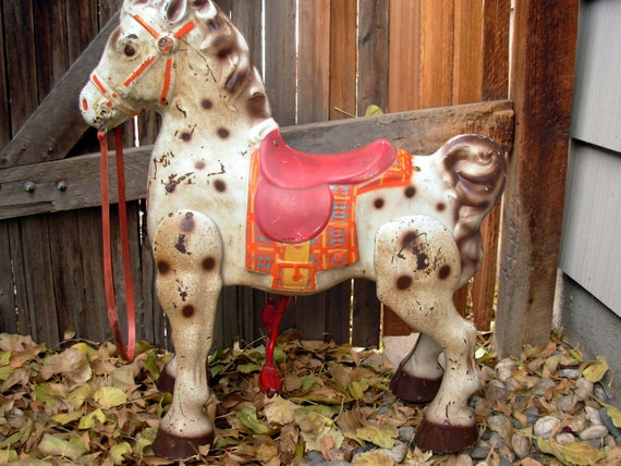 1940s Metal MOBO Riding Horse Antique Childrens Toy