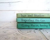 The Bookmark Reading Program Set of 3 Children's Readers Shades of Blue & Green Aqua, Teal, Sea Green