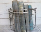 Blue Books Instant Library Collection Decorative Vintage Book Bundle Photography Props Sea Side Shabby Chic