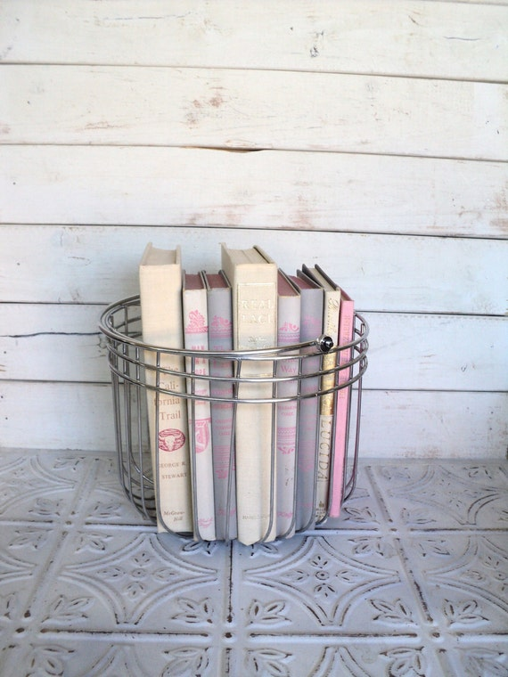 Reserved for ShabbyChicCharm Gray/Pink Books Instant Library Book Collection by Color Bundle Vintage Decorative Books Photography Props