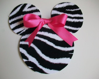 DIY No-Sew Minnie/Mickey Mouse Zebra Applique - Iron On