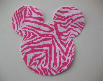 Minnie Mouse Pink Zebra Applique - Iron On