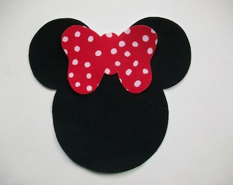 Minnie Mouse Applique - Iron On with Bow