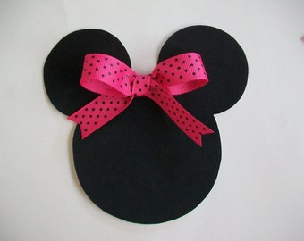DIY No-Sew Minnie Mouse Applique and Ribbon - Iron On