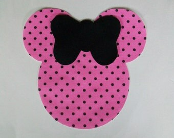 DIY Minnie Mouse Applique & Ribbon - Iron On