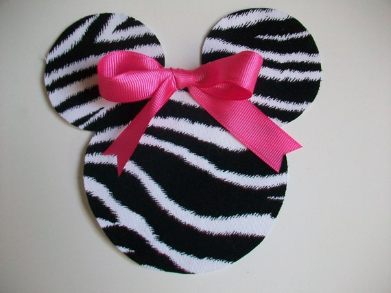 DIY No-Sew Minnie/Mickey Mouse Zebra Applique - Iron On