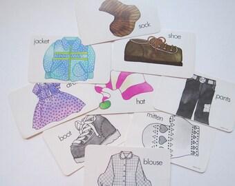 Clothing Flashcards, Vintage Supply