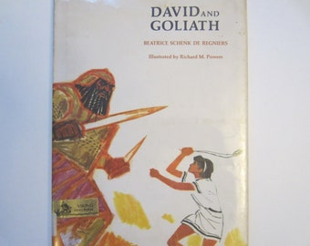 Vintage Children's Book David and Goliath