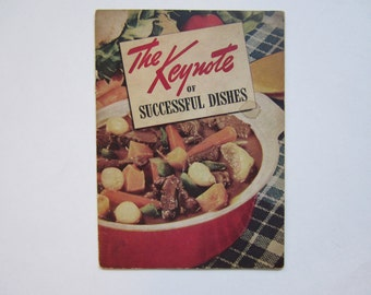 Cookbook, The Keynote of Successful Dishes, Vintage