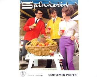 Craft Book, Knitting, Spinnerin Book Gentlemen Prefer, 1967,  Vintage