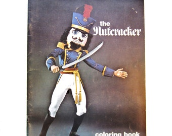 Vintage Nutracker Coloring Book, 1975, Children