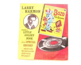 1960s Bozo the Clown Little Golden Book and Record