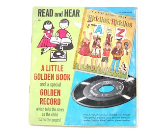 Riddles, Riddles, From A to Z, a Little Golden Book and Record