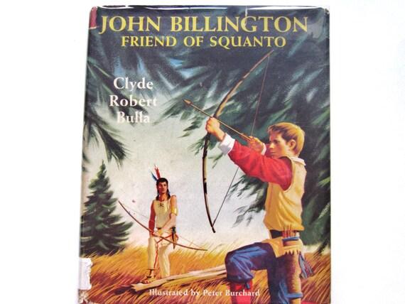 John Billington, Friend of Squanto, Vintage Children's Book
