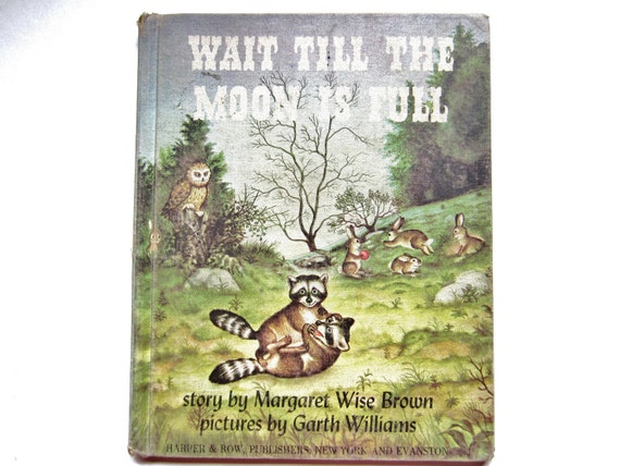 Wait Till the Moon is Full by Margaret Wise Brown, a 1940s Vintage Children's Book