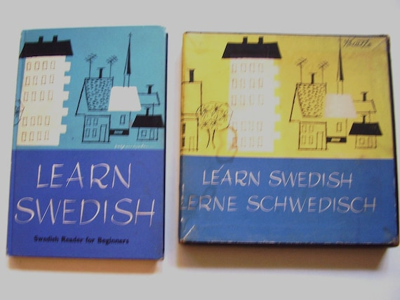 Learn Swedish, 1959 Vintage Book and Record Set