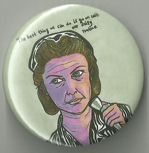 Nurse Ratched One Flew over the Cuckoo's nest 55mm badge