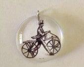Bicycle resin pendant