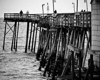 Fishing Pier Black and White Print