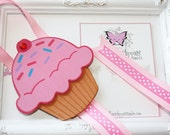 Cupcake Bow Holder. Cupcake Ice Cream Headband Holder