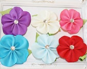 Exotic Plumeria Flower Ribbon Sculpture Flower Bow.  Spring Flower Clip.  Pick One. Free Ship Promo