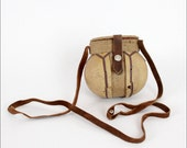 SALE coconut crossbody purse / hard round bag / tropical style