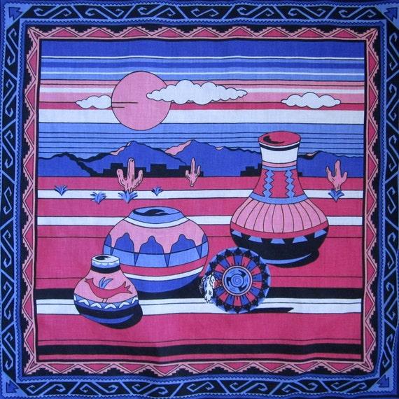 southwest scene scarf // purple & pink