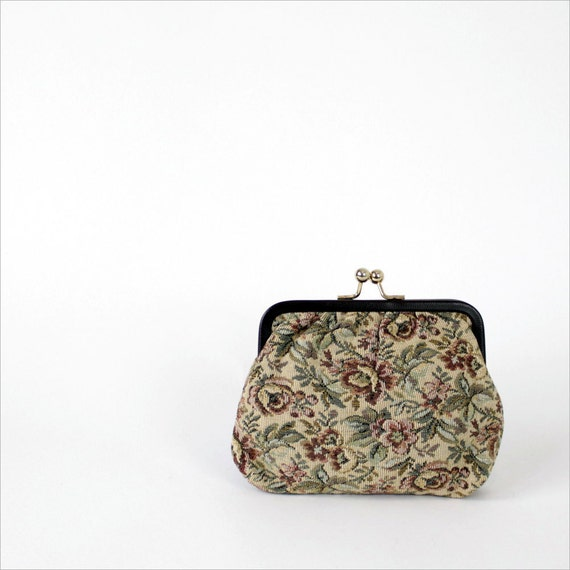 SALE floral tapestry bag / change purse / made in italy