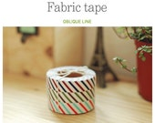 Roll Fabric Reform Tape Decoration for Diary Photo Note etc - oblique line