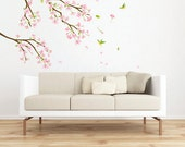 Japanese Apricot Flower Blossom Home Decor Mural Wall Sticker K0067