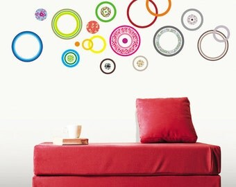 Color Circle Removable Deco Point Wall Sticker