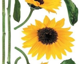 Sunflower Wall Point Art Decor Mural Sticker Removable SS27