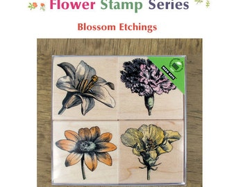 Lovely Rubber Flower Stamp -Blossom Etchings