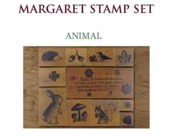 Margaret Rubber Stamp Set - Animal Stamp Set of 11