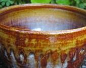Tea Bowl- Honey Glazed