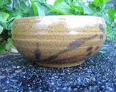 Serving Bowl Ochre Glaze