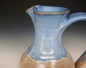 Pitcher Small Flower Vase Cream Blue Glaze