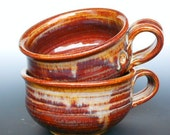 Chili Bowl Ceramic Mug Large Soup -Honey Glaze