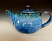 Personal Teapot Blue and Green Glaze